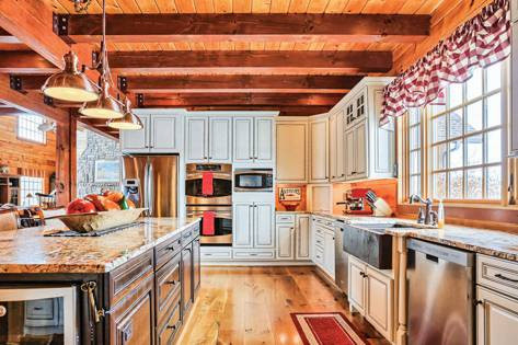 log home kitchen designs