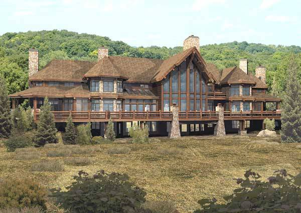 Perfect Pendleton Estate Luxury Lodge Floor Plan By Wisconsin Log Homes