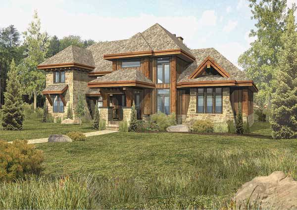 Tamarack hybrid home floor plan by wisconsin log homes for Www loghome com