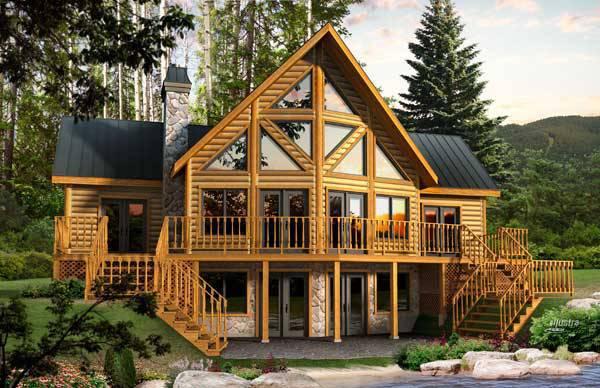 Dakota Log Home Plan By Timber Block