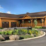 ranch log home floor plans