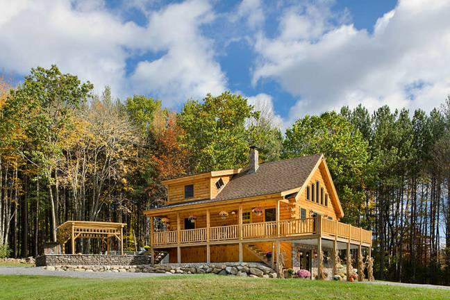 custom ascutney log home plan by cove
