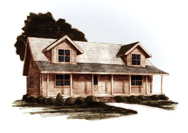 Clear Creek Log Home Plan By Jim Barna Log Timber Homes
