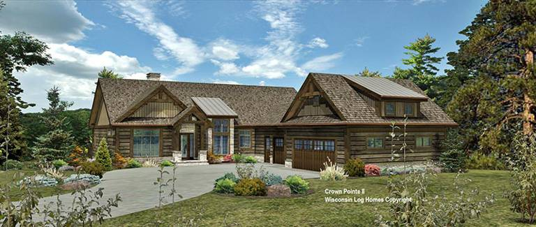 crown pointe ii front rendering in timberlock wisconsin