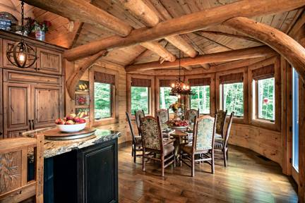 dining-unique-cabinetry-wood-flooring-interior-dowell-golden-eagle-log-homes-7-2