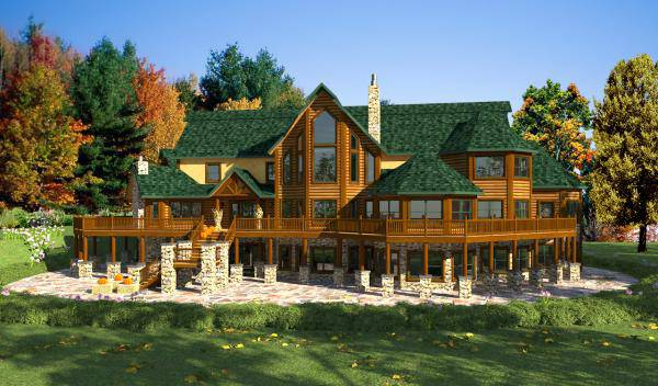 Acadia home plan by golden eagle log homes for Www loghome com