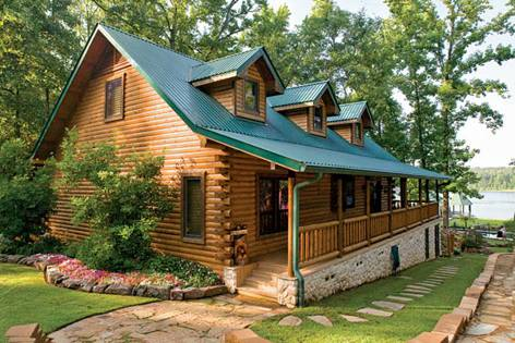log home roofing