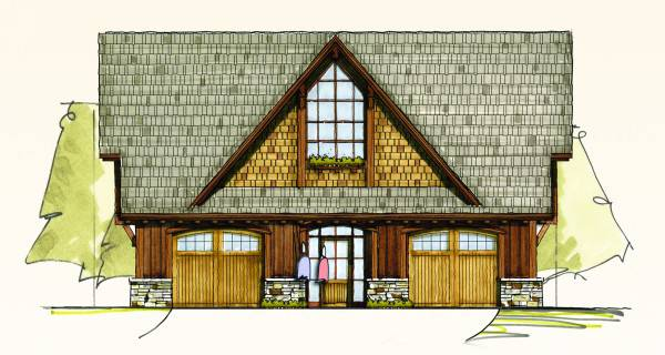 carriage home designs.  Oak Carriage House Home Plan by MossCreek Designs