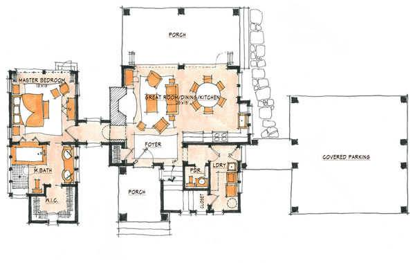 Camp Home Plan By Natural Element Homes
