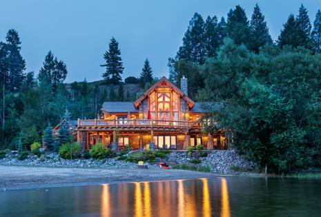 log homes waterfront