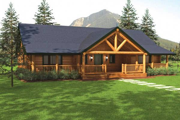 Sequoia II Home Plan by Big Foot Log Timber Homes