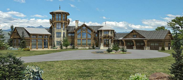 telluride heights log home by wisconsin log homes