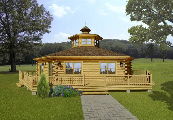 acadian log home from Katahdin Log Homes