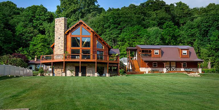 Ellwood Log Home from Coventry