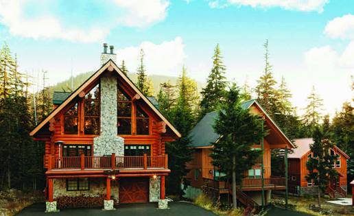 lodge style log homes