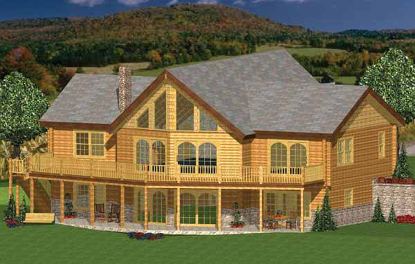 grand lake house plan by hilltop log timber homes
