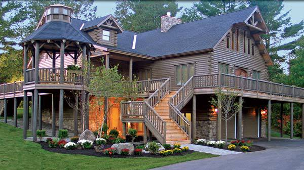 Extreme Log Home Showcase by Katahdin Cedar Log Homes
