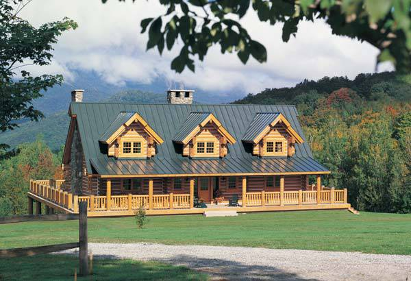 Wyoming log home plan by rocky mountain log homes for Colorado mountain home plans