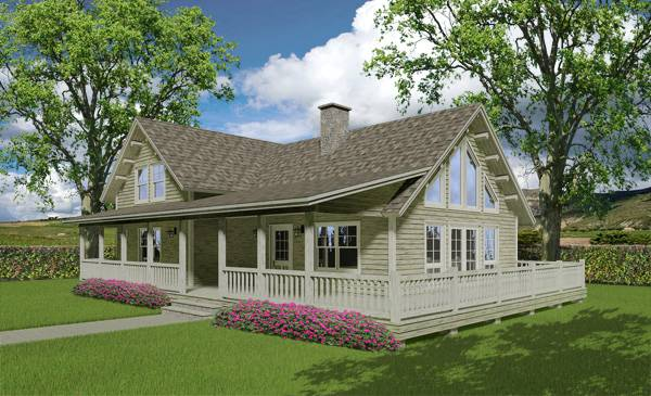 houston log home floor plan by Katahdin