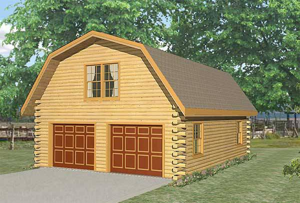 live in garage log home plan by lincoln logs international