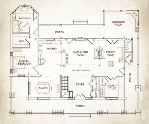 Grand Sequoia Lodge Plan By Naturecraft Homes