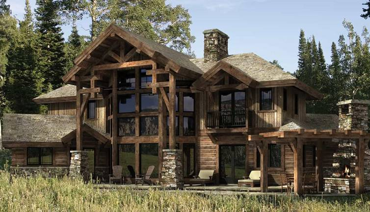 Dakota log and timber home plan by precisioncraft log for Www loghome com