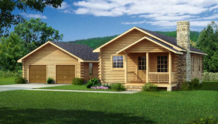 Lee II Log Home Plan by Southland Log Homes
