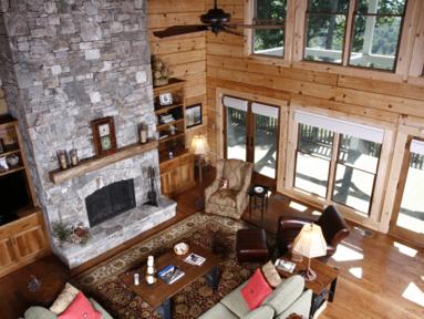 Wood interior home design.