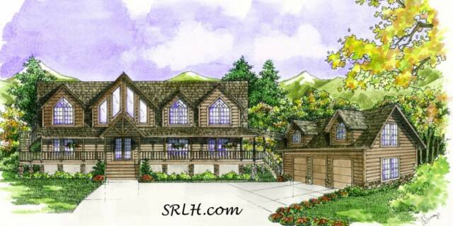 Madison home plan by suwannee river log homes for Madison house plan